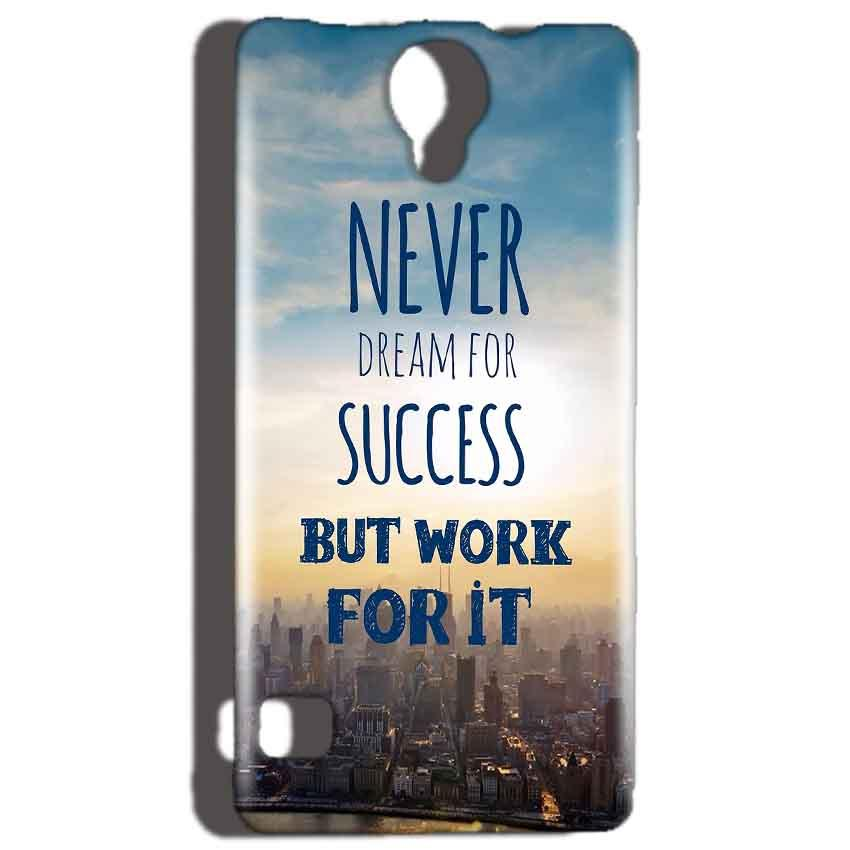 Reliance Lyf Flame 4 Mobile Covers Cases Never Dreams For Success But Work For It Quote - Lowest Price - Paybydaddy.com