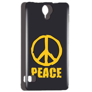 Reliance Lyf Flame 4 Mobile Covers Cases Peace Blue Yellow - Lowest Price - Paybydaddy.com