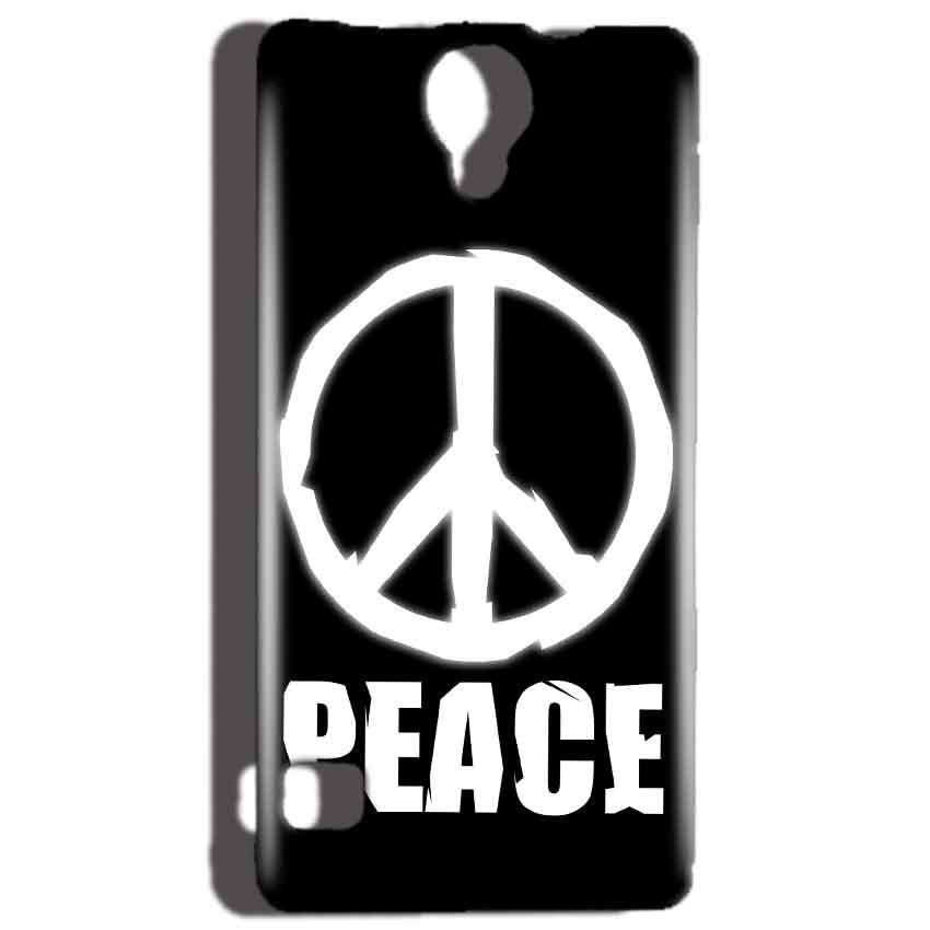 Reliance Lyf Flame 4 Mobile Covers Cases Peace Sign In White - Lowest Price - Paybydaddy.com