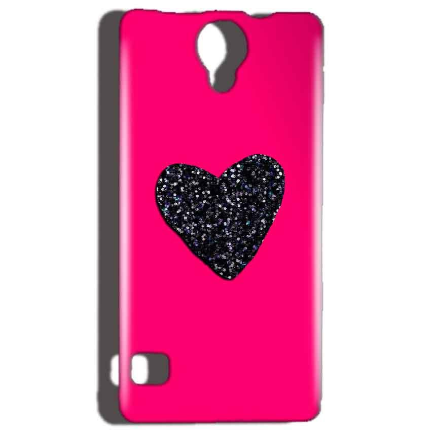 Reliance Lyf Flame 4 Mobile Covers Cases Pink Glitter Heart - Lowest Price - Paybydaddy.com