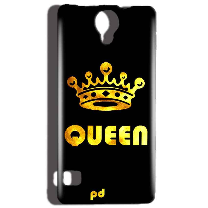Reliance Lyf Flame 4 Mobile Covers Cases Queen With Crown in gold - Lowest Price - Paybydaddy.com