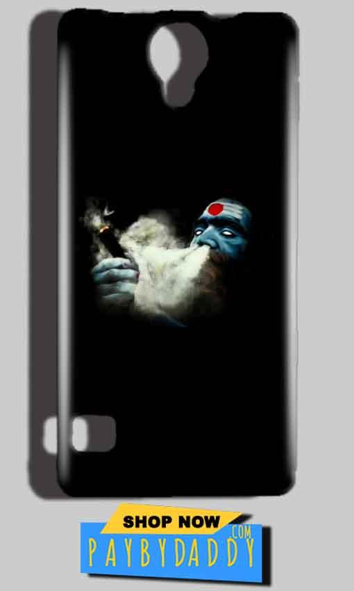 Reliance Lyf Flame 4 Mobile Covers Cases Shiva Aghori Smoking - Lowest Price - Paybydaddy.com