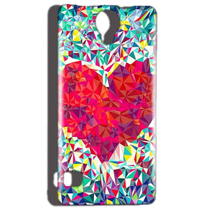 Reliance Lyf Flame 4 Mobile Covers Cases heart Prisma design - Lowest Price - Paybydaddy.com