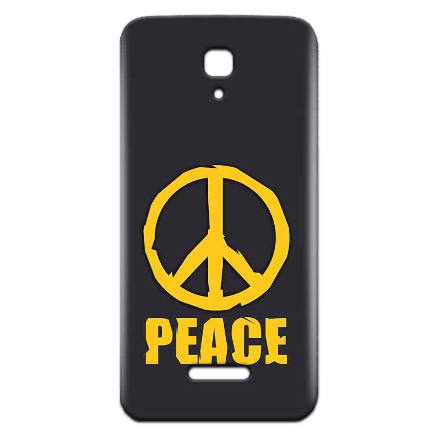 Reliance Lyf Flame 5 Mobile Covers Cases Peace Blue Yellow - Lowest Price - Paybydaddy.com