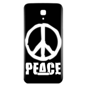 Reliance Lyf Flame 5 Mobile Covers Cases Peace Sign In White - Lowest Price - Paybydaddy.com