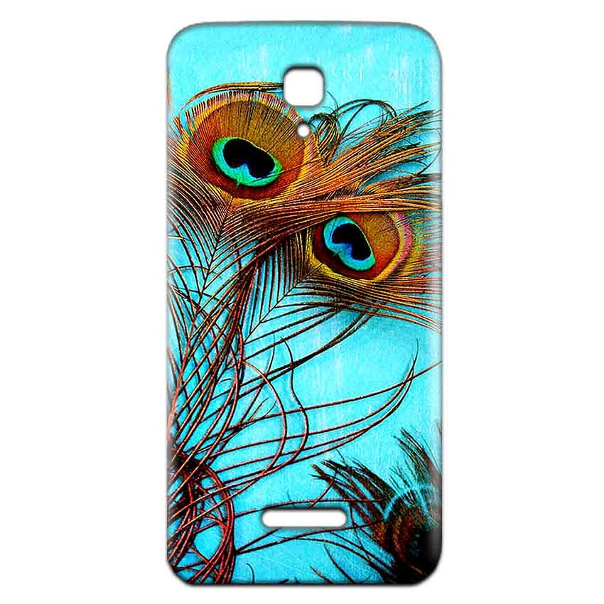 Reliance Lyf Flame 5 Mobile Covers Cases Peacock blue wings - Lowest Price - Paybydaddy.com
