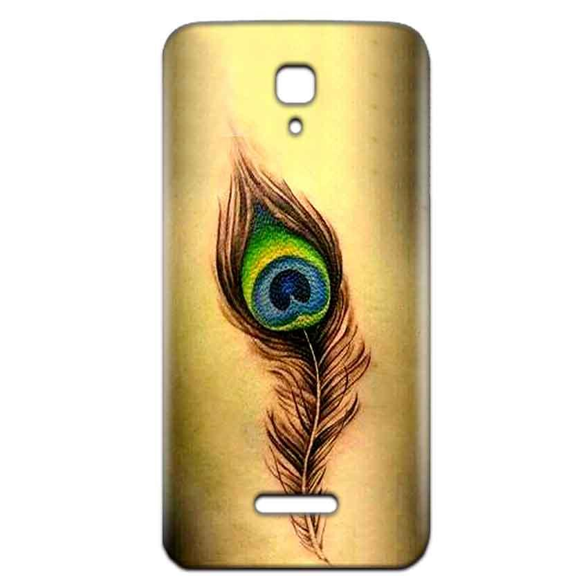 Reliance Lyf Flame 5 Mobile Covers Cases Peacock coloured art - Lowest Price - Paybydaddy.com