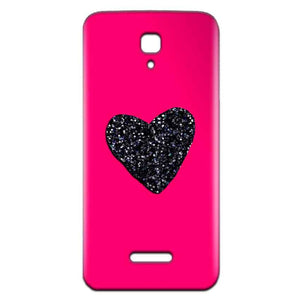 Reliance Lyf Flame 5 Mobile Covers Cases Pink Glitter Heart - Lowest Price - Paybydaddy.com