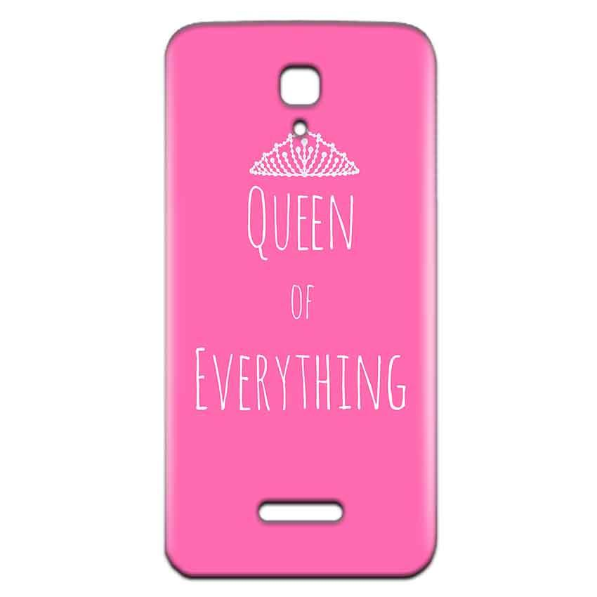 Reliance Lyf Flame 5 Mobile Covers Cases Queen Of Everything Pink White - Lowest Price - Paybydaddy.com