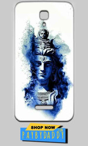 Reliance Lyf Flame 5 Mobile Covers Cases Shiva Blue White - Lowest Price - Paybydaddy.com