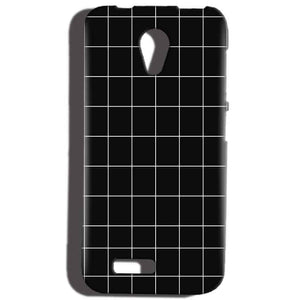 Reliance Lyf Flame 6 Mobile Covers Cases Black with White Checks - Lowest Price - Paybydaddy.com