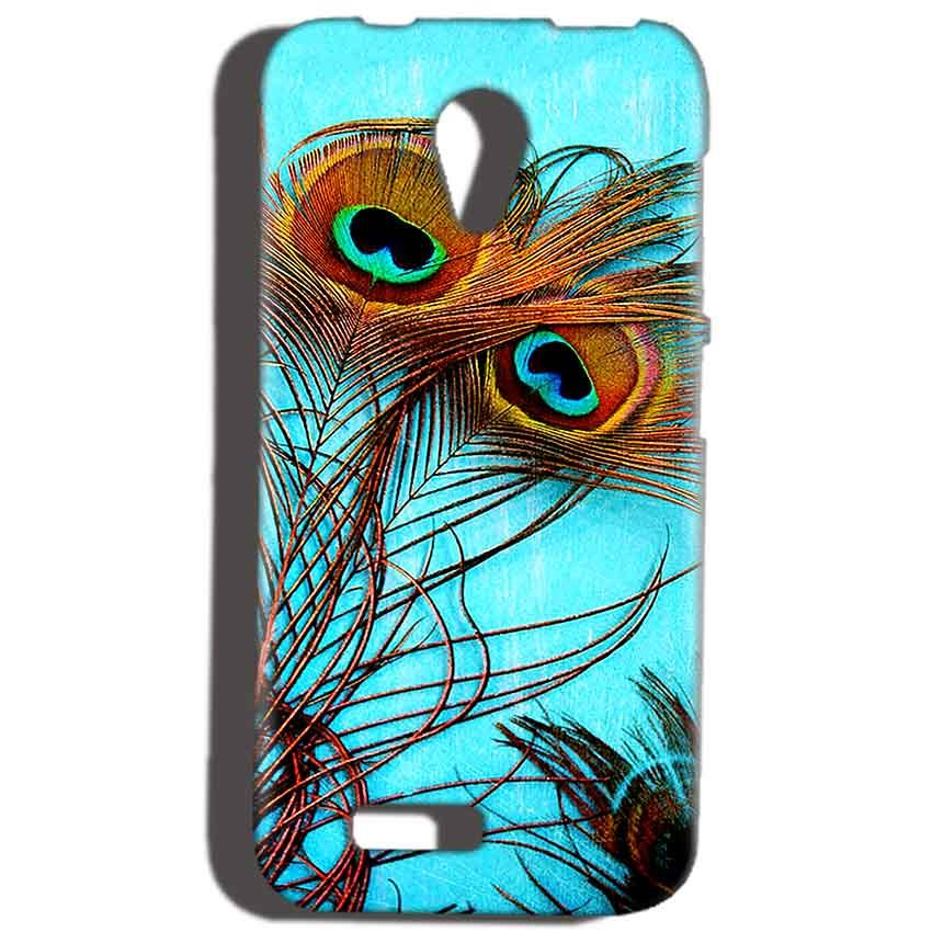 Reliance Lyf Flame 6 Mobile Covers Cases Peacock blue wings - Lowest Price - Paybydaddy.com
