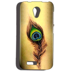 Reliance Lyf Flame 6 Mobile Covers Cases Peacock coloured art - Lowest Price - Paybydaddy.com