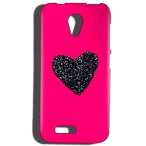 Reliance Lyf Flame 6 Mobile Covers Cases Pink Glitter Heart - Lowest Price - Paybydaddy.com