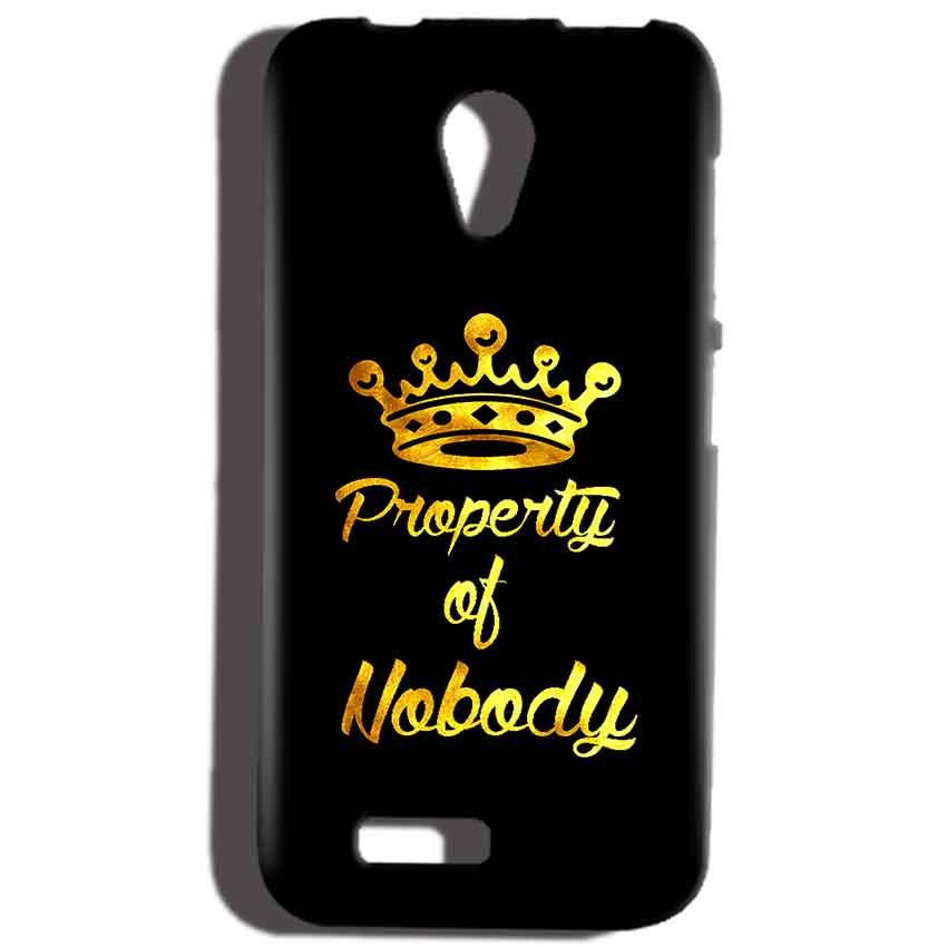 Reliance Lyf Flame 6 Mobile Covers Cases Property of nobody with Crown - Lowest Price - Paybydaddy.com