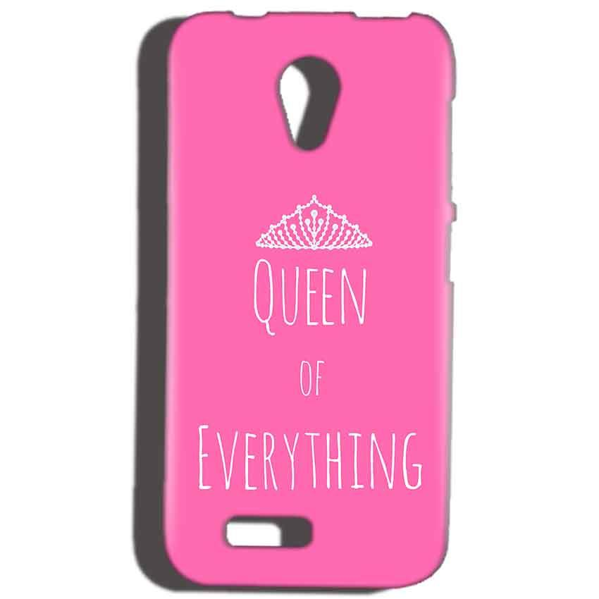 Reliance Lyf Flame 6 Mobile Covers Cases Queen Of Everything Pink White - Lowest Price - Paybydaddy.com