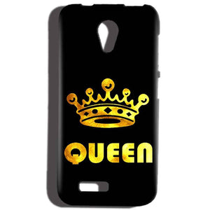 Reliance Lyf Flame 6 Mobile Covers Cases Queen With Crown in gold - Lowest Price - Paybydaddy.com