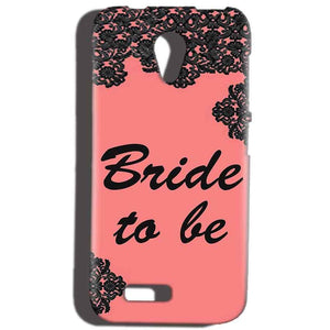 Reliance Lyf Flame 6 Mobile Covers Cases Mobile Covers Cases bride to be with ring Black Pink - Lowest Price - Paybydaddy.com