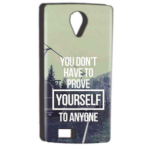 Reliance Lyf Flame 7 Mobile Covers Cases Donot Prove yourself - Lowest Price - Paybydaddy.com