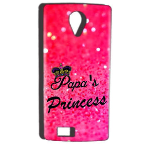 Reliance Lyf Flame 7 Mobile Covers Cases PAPA PRINCESS - Lowest Price - Paybydaddy.com