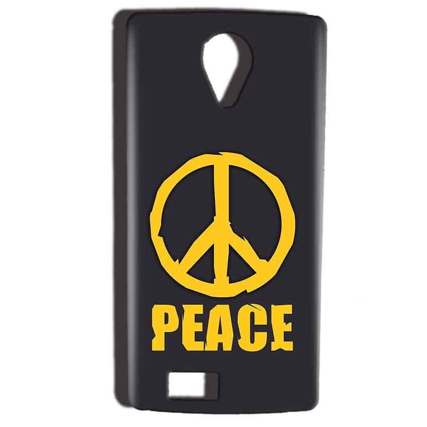 Reliance Lyf Flame 7 Mobile Covers Cases Peace Blue Yellow - Lowest Price - Paybydaddy.com