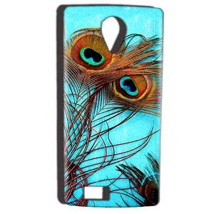 Reliance Lyf Flame 7 Mobile Covers Cases Peacock blue wings - Lowest Price - Paybydaddy.com