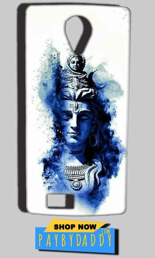 Reliance Lyf Flame 7 Mobile Covers Cases Shiva Blue White - Lowest Price - Paybydaddy.com