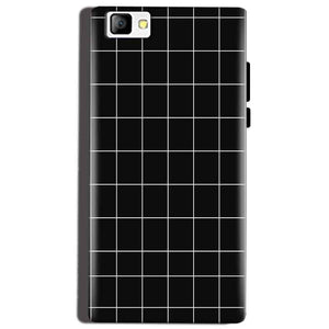 Reliance Lyf Flame 8 Mobile Covers Cases Black with White Checks - Lowest Price - Paybydaddy.com