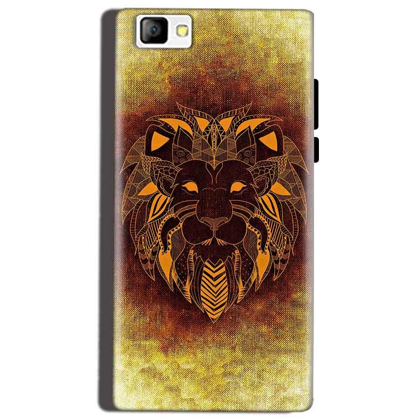 Reliance Lyf Flame 8 Mobile Covers Cases Lion face art - Lowest Price - Paybydaddy.com