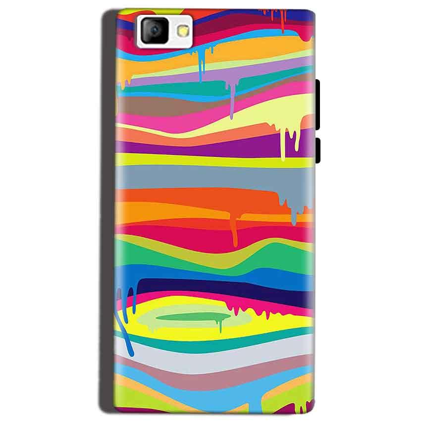 Reliance Lyf Flame 8 Mobile Covers Cases Melted colours - Lowest Price - Paybydaddy.com