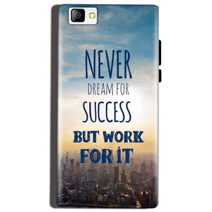 Reliance Lyf Flame 8 Mobile Covers Cases Never Dreams For Success But Work For It Quote - Lowest Price - Paybydaddy.com