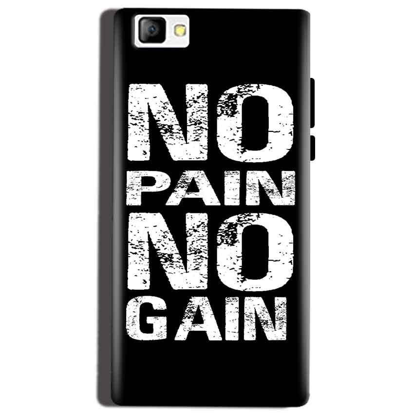 Reliance Lyf Flame 8 Mobile Covers Cases No Pain No Gain Black And White - Lowest Price - Paybydaddy.com