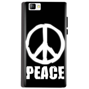 Reliance Lyf Flame 8 Mobile Covers Cases Peace Sign In White - Lowest Price - Paybydaddy.com