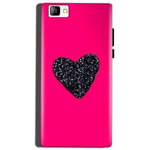 Reliance Lyf Flame 8 Mobile Covers Cases Pink Glitter Heart - Lowest Price - Paybydaddy.com