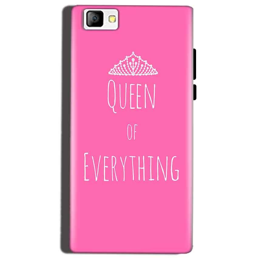 Reliance Lyf Flame 8 Mobile Covers Cases Queen Of Everything Pink White - Lowest Price - Paybydaddy.com