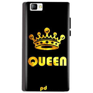 Reliance Lyf Flame 8 Mobile Covers Cases Queen With Crown in gold - Lowest Price - Paybydaddy.com