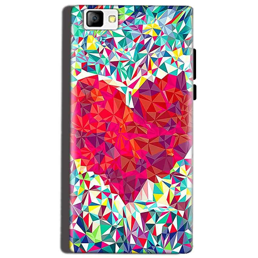Reliance Lyf Flame 8 Mobile Covers Cases heart Prisma design - Lowest Price - Paybydaddy.com