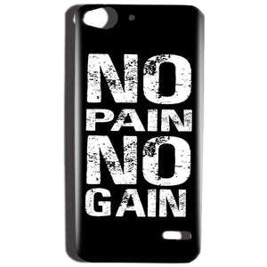 Reliance Lyf Water 2 Mobile Covers Cases No Pain No Gain Black And White - Lowest Price - Paybydaddy.com