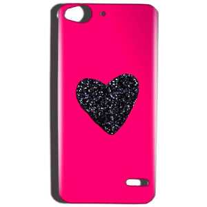 Reliance Lyf Water 2 Mobile Covers Cases Pink Glitter Heart - Lowest Price - Paybydaddy.com
