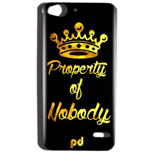 Reliance Lyf Water 2 Mobile Covers Cases Property of nobody with Crown - Lowest Price - Paybydaddy.com