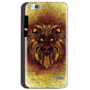 Reliance Lyf Water 3 Mobile Covers Cases Lion face art - Lowest Price - Paybydaddy.com