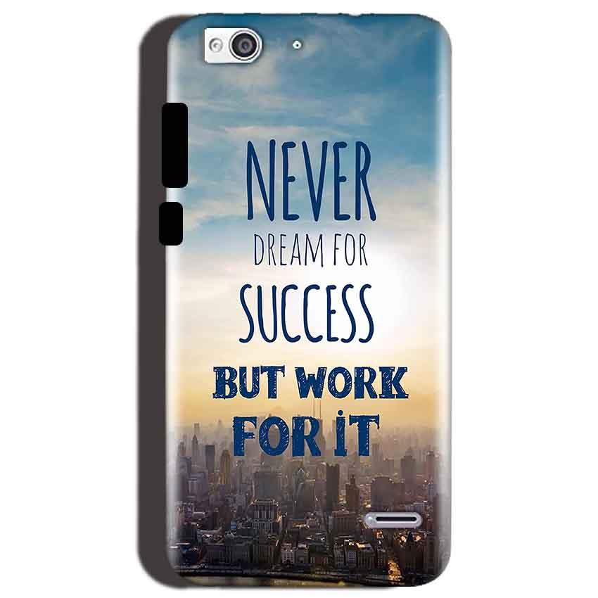 Reliance Lyf Water 3 Mobile Covers Cases Never Dreams For Success But Work For It Quote - Lowest Price - Paybydaddy.com