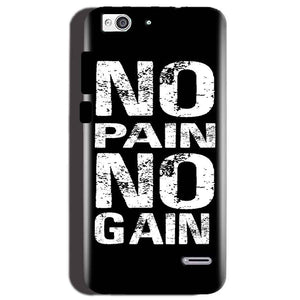 Reliance Lyf Water 3 Mobile Covers Cases No Pain No Gain Black And White - Lowest Price - Paybydaddy.com