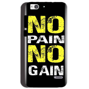 Reliance Lyf Water 3 Mobile Covers Cases No Pain No Gain Yellow Black - Lowest Price - Paybydaddy.com