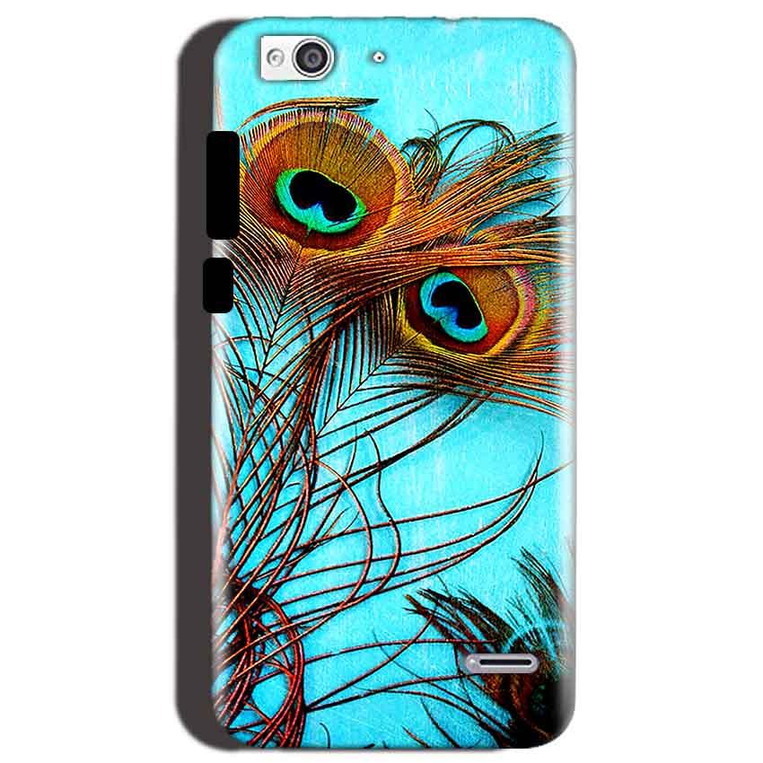 Reliance Lyf Water 3 Mobile Covers Cases Peacock blue wings - Lowest Price - Paybydaddy.com