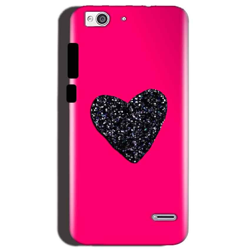 Reliance Lyf Water 3 Mobile Covers Cases Pink Glitter Heart - Lowest Price - Paybydaddy.com