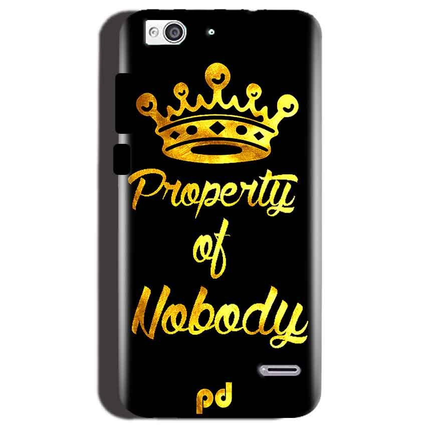 Reliance Lyf Water 3 Mobile Covers Cases Property of nobody with Crown - Lowest Price - Paybydaddy.com