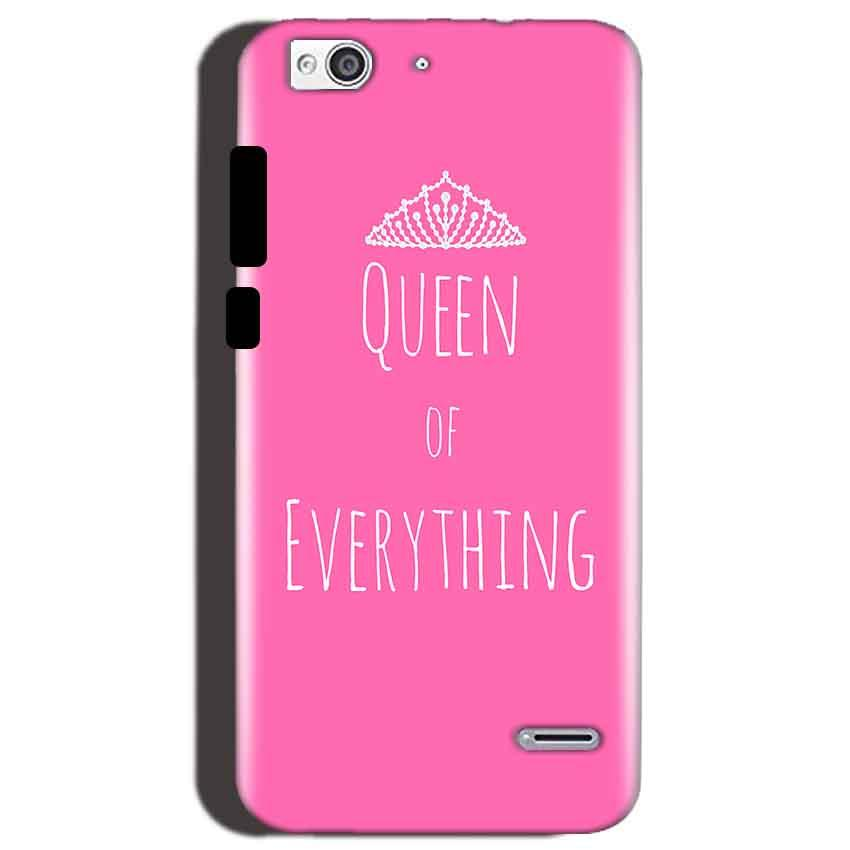 Reliance Lyf Water 3 Mobile Covers Cases Queen Of Everything Pink White - Lowest Price - Paybydaddy.com