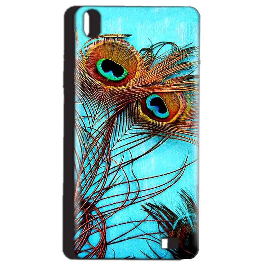 Reliance Lyf Water 4 Mobile Covers Cases Peacock blue wings - Lowest Price - Paybydaddy.com