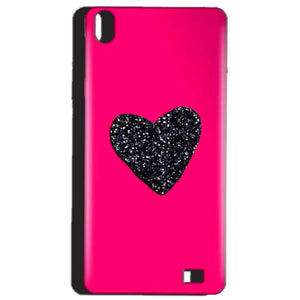 Reliance Lyf Water 4 Mobile Covers Cases Pink Glitter Heart - Lowest Price - Paybydaddy.com